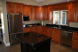 Granite Countertops With Cherry Cabinets Cherry Kitchen Cabinets Black Granite Home Design Health