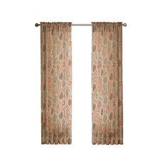 Simply Shabby Chic Bathroom Accessories by Window Elements Semi Opaque Felicity Embroidered Faux Silk 54 In