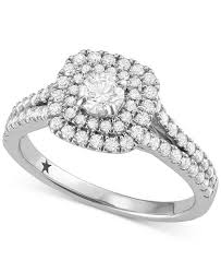 diamond halo rings images Macy 39 s star signature diamond halo engagement ring 1 ct t w in tif