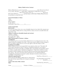Dj Resume Wedding Dj Contract Templateregularmidwesterners Resume And