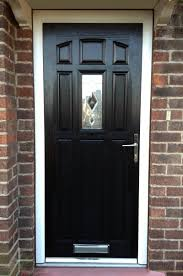 stylish guest welcoming black front door ideas accessories
