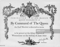 Official Invitation Card Format Coronation Invitation Pictures Getty Images