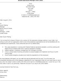 ideas collection operations manager cover letter template for