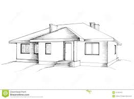 manual drawing of the house stock photos image 13183413