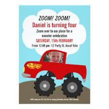 truck invitations u0026 announcements zazzle