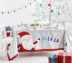 christmas tablecloth merry bright christmas tablecloth pottery barn kids