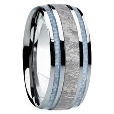 mens wedding band 8mm tungsten carbide with 6mm hawaiian koa wood inlay k121m