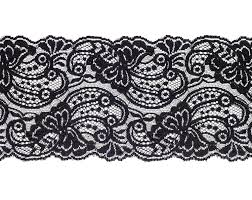 black lace trim 2 yards of wide vintage black lace trim by cosmoscoolsupplies