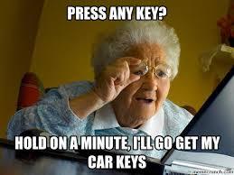 Car Keys Meme - to dementia