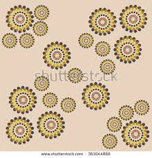 vector flower abstract ornaments embroidery can stock vector