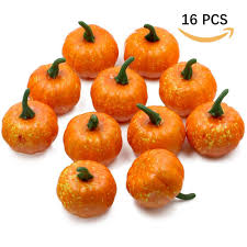 foam pumpkins supla pack of 16 decorations mini pumpkins foam pumpkins