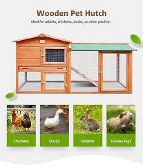 Pet Hutch 1 8m Wooden Chicken Coop Rabbit Hutch Guinea Pig Ferret Cage Hen