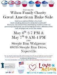wilson family charity bake sale flyer