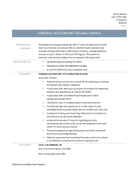 Resume Samples Of Accountant by Forensic Accountant Resume Samples Templates And Job Descriptions