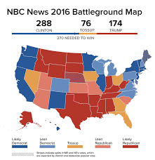 New York Political Map by Clinton Surges Past 270 Electoral Votes In Nbc News Battleground