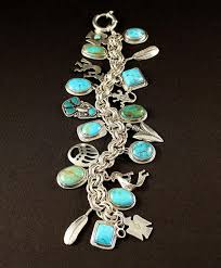 silver rope charm bracelet images Handcrafted turquoise and sterling silver 20 pendant charm JPG