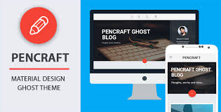 templates blogger material design pencraft material design ghost theme on themeforest codetic
