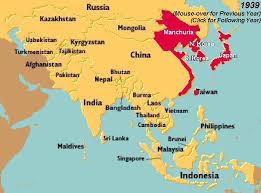 map world asia world war ii