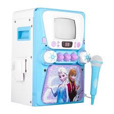 disney frozen karaoke machine monitor bonus cd