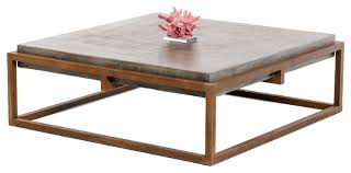 concrete and wood coffee table various modrest aron shepard concrete coffee table reviews houzz