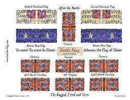 The Bonnie Blue Flag After The Battle Wargame Flags 15 18mm Battle Flag
