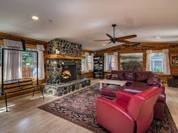 modern cedar log cabin with tub and poo vrbo