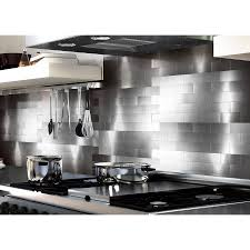 kitchen backsplash stainless wall tile glass metal mosaic tile