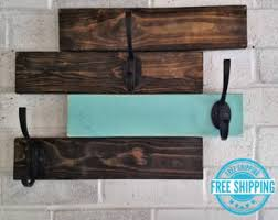 coat rack modern wall mount bag hat entry hooks wood home