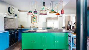 blue kitchen cabinet paint uk two tone kitchens home the sunday times