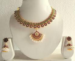 beautiful necklace online images Buy beautiful mango temple necklace set dj14670 online jpg