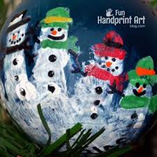 handprint snowman with poem handprint