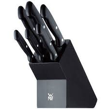 wmf kitchen knives wmf knife set with wood knife block black 7 pieces
