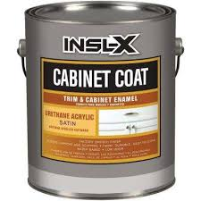 best kitchen cabinet paint home depot insl x 1 gal white satin cabinet coat