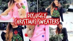 diy ugly christmas sweaters easy u0026 affordable youtube