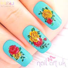 rose adhesive nail stickers nail art uk