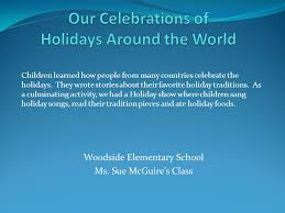 children learned how from many countries celebrate the