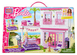 amazon com mega bloks barbie beach house toys u0026 games