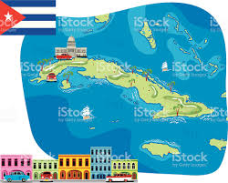 Map Cuba Cartoon Map Of Cuba Stock Vector Art 165793373 Istock