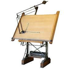 Drafting Table Vinyl Awesome Vintage Drafting Table At 1stdibs Intended For Idea 6
