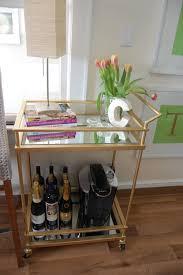 Kitchen Cart Target by Gold U0026 Mirrored Target Bar Cart Hack