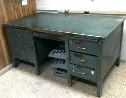 used metal office desk for sale metal desks vintage metal single pedestal tanker desk est retail on