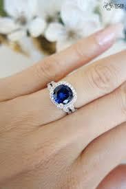 2 25 carat halo wedding set vintage bridal rings man made