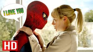 spiderman kiss his girlfriend watch the amazing spider man