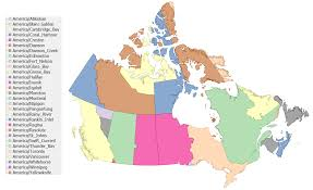 United States Map Time Zones by A Shapefile Of The Tz Timezones Of Canada