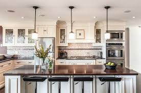 Above Island Lighting Kitchen With Pendant Lighting Over Island Transitional Kitchen