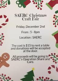saerc christmas craft fair strait area education recreation centre