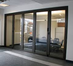 Interior Folding Glass Doors Closed Interior Folding Glass Wall Portland Restaurant Inside