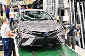 toyota usa starts production of all new 2018 toyota camry