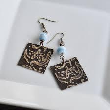 earrings diy embossed metal diy earrings diycandy