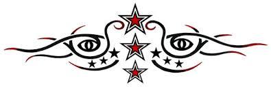 tribal eyes stars band tattooforaweek temporary tattoos largest